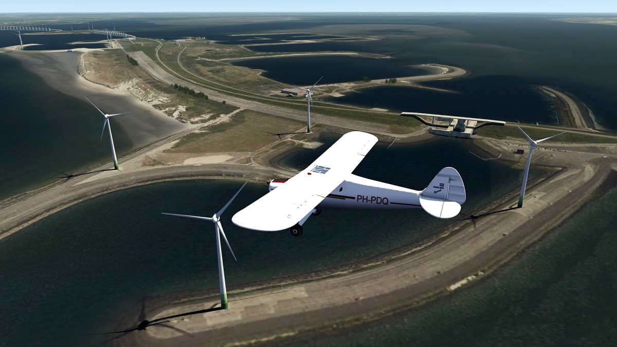The Netherlands Delta-works+Piper Cub