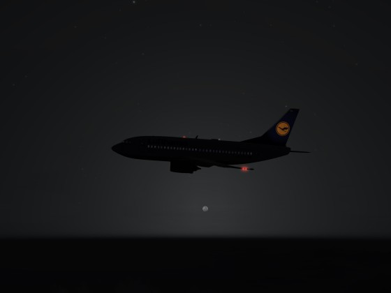 737-500 lufthansa climbing to its cruising altitude LVL320
