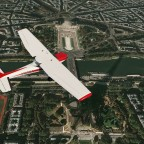 Cessna 152 @ Paris - Shadow of the Eiffel tower
