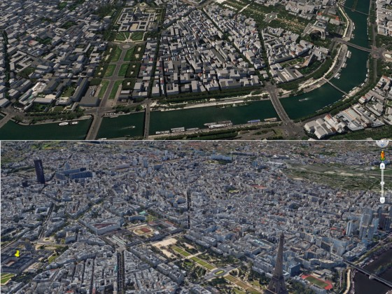Paris - Comparison AFS2 with Google Earth