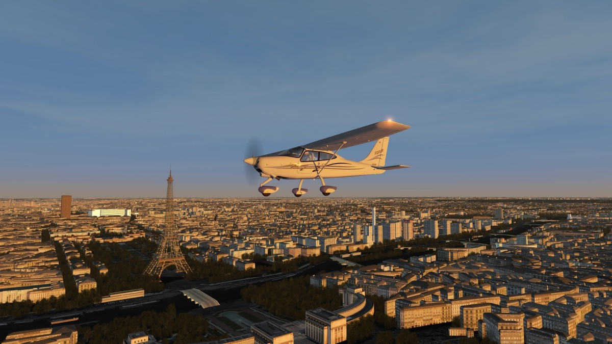 FR - Paris at dusk - France VFR