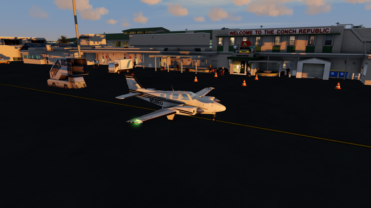 Good flight, arrival at dawn in Key West ;-)