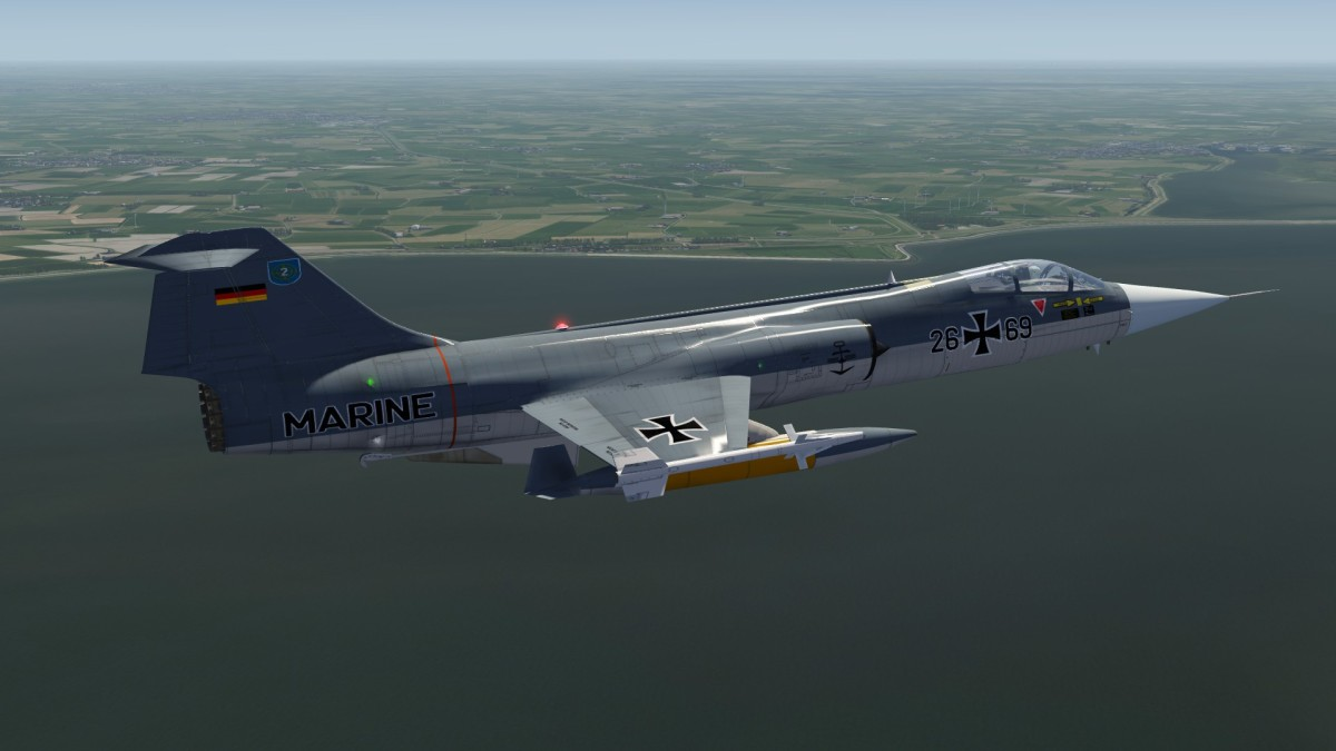 F104G along Dutch Coast