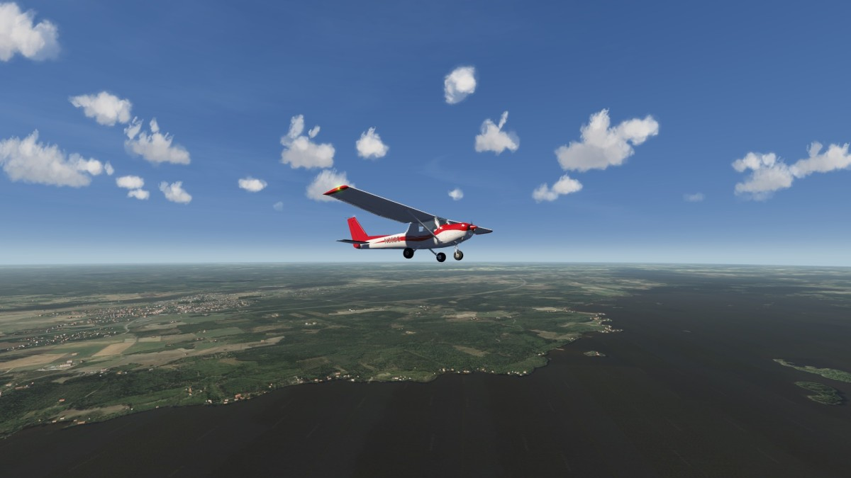 C 152 Over Finland Photo Scenery + Cultivation