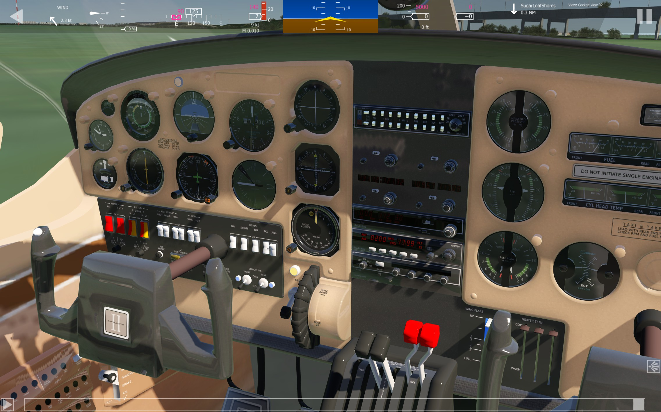 Early look at Cessna 337 Skymaster - Push Pull Twin - Developer