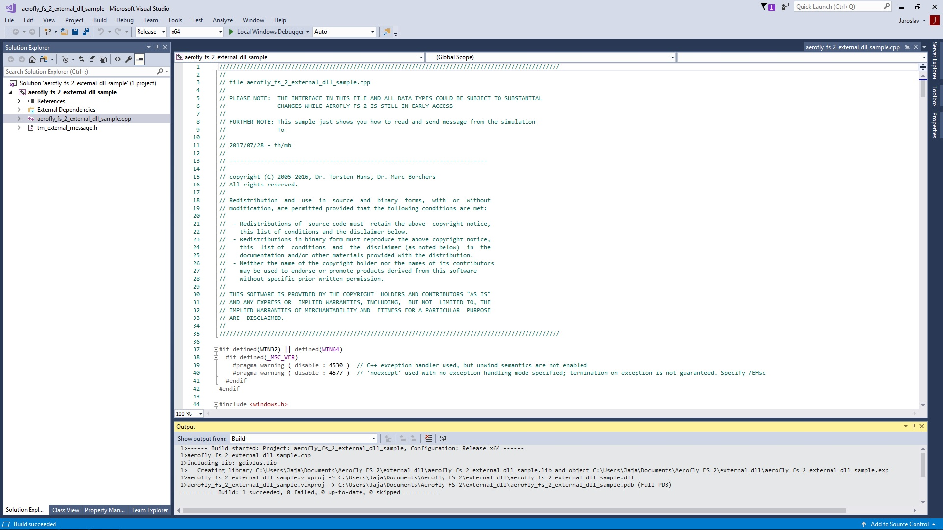 SDK - DLL example - Developer discussions ( General and