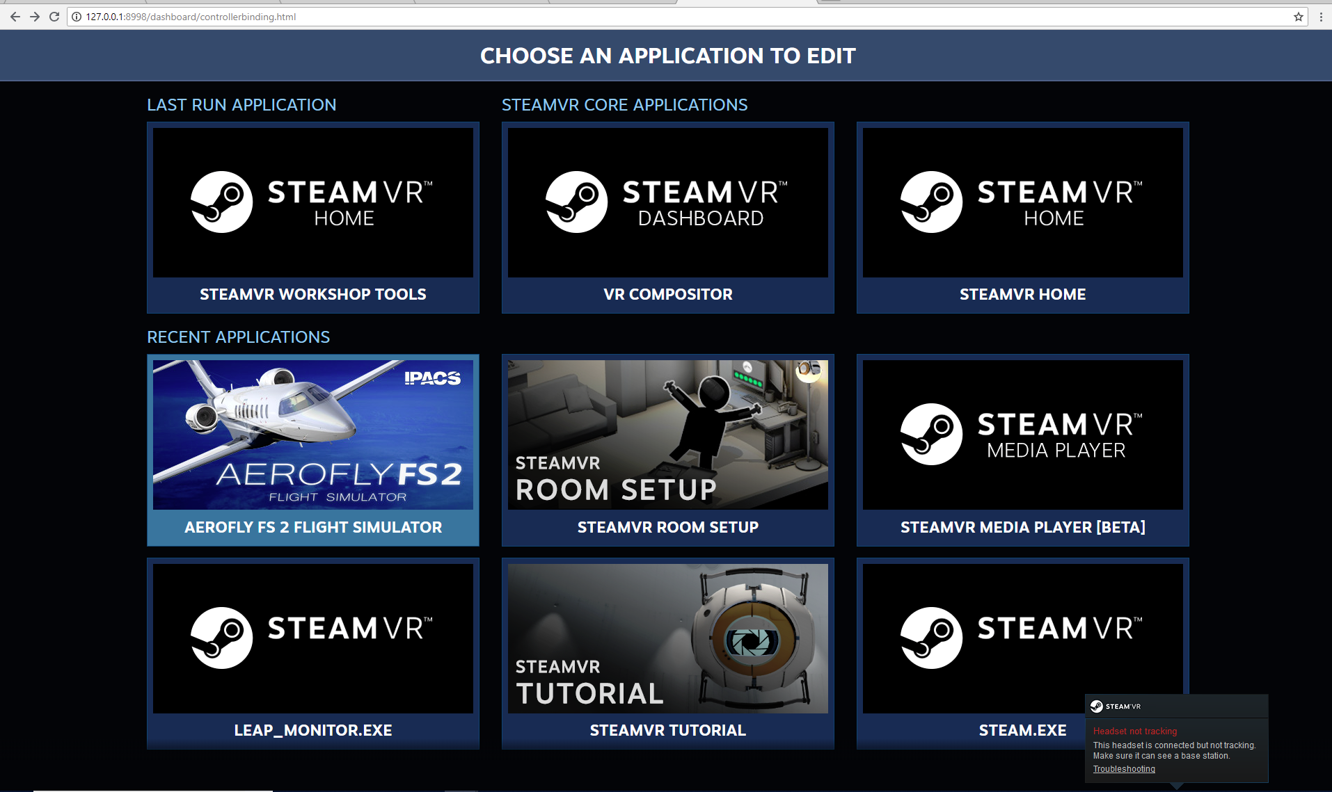 Remap VR controls? - General discussions - IPACS Aerofly Forum